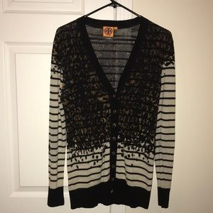 Tory Burch Wool Leopard Cardigan